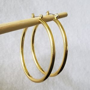 """2"""" Yellow Gold Hoops"""